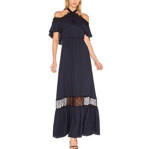 Alice + Olivia mitsy gown black/indigo